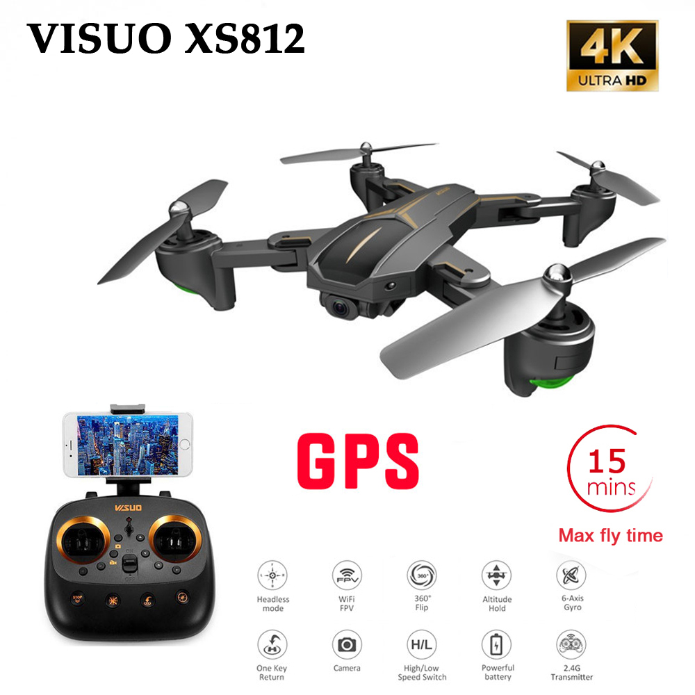 XS812 GPS 5G WiFi FPV With 4K FHD Camera 15mins Flight Time Foldable RC Drone Quadcopter RTF Kids Birth Gift VS <font><b>f196</b></font> image