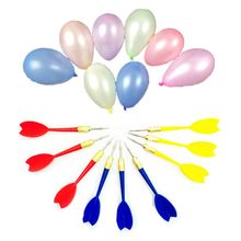 Carnival Games Darts Balloons, 500Pcs Circus Decorations Christmas Balloons with 12Pcs for Party Supplies Y51E