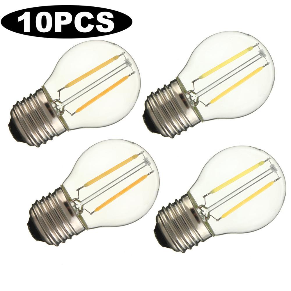 10 шт./лот, E27 G45 Ретро винтажная Светодиодная лампа накаливания 6 Вт 4 Вт 2 Вт, замена 20 Вт 40 Вт 60 Вт, галогенная лампа Эдисона 220 В переменного тока|Светодиодные лампы и трубки|   | АлиЭкспресс
