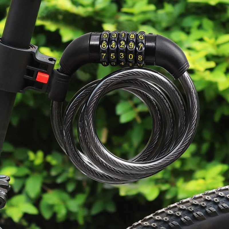 Bicycle Lock Bike Lock Combination Lock Cable Lock Moped Castle Light