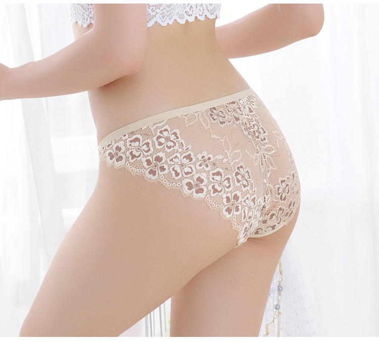 TERMEZY Sexy Panties Women Lace Low-waist Briefs Female Breathable Embroidery Underwear Transparent G String Underpant Lingerie