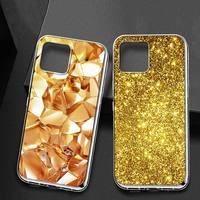 Funda de teléfono con estampado de flores doradas para iPhone, 11, 12 pro, XS, MAX, 12, 12, Mini, 8, 7, 6, 6S Plus, X, SE, 2020, XR