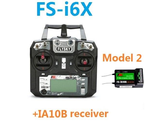Flysky FS-i6X FS I6X 10CH 2.4GHz AFHDS 2A RC Transmitter Remote Controller I6 Upgrade +iA10B Receiver Rc Airplane Mode 2 1
