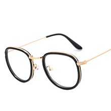 Vintage transparente óculos de metal para homens óculos redondos quadro feminino retro oval gafas grau feminino 2020