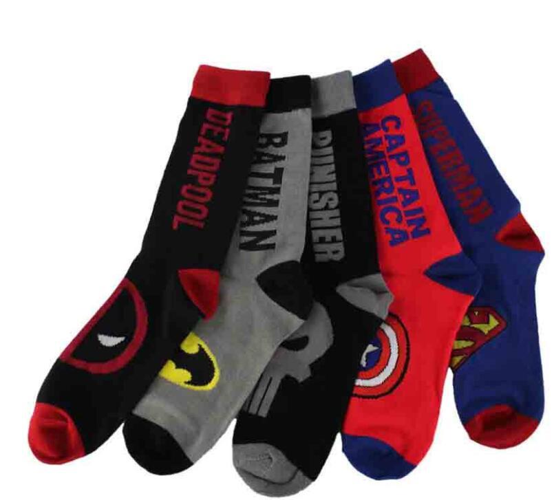 Men's Socks Christmas gift for men socks Colorful Socks Happy Cartoon Unisex women 100 cotton letter Socks