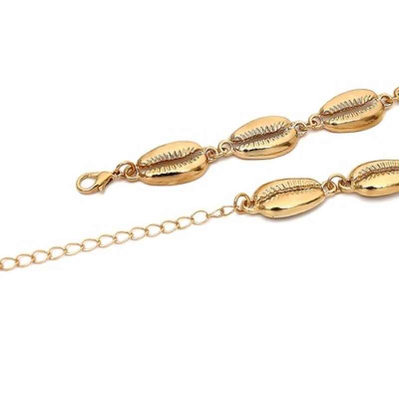 Золотые и серебряные цвета значки на руки для женщин девушка металлический Пляж оболочки Шарм ножной браслет Бохо бижутерия для ног оптовая продажа