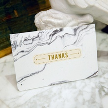 Fashion Gold Birthday Card Marble Cards With Envelope Gift Christmas New Year Thank You Greeting