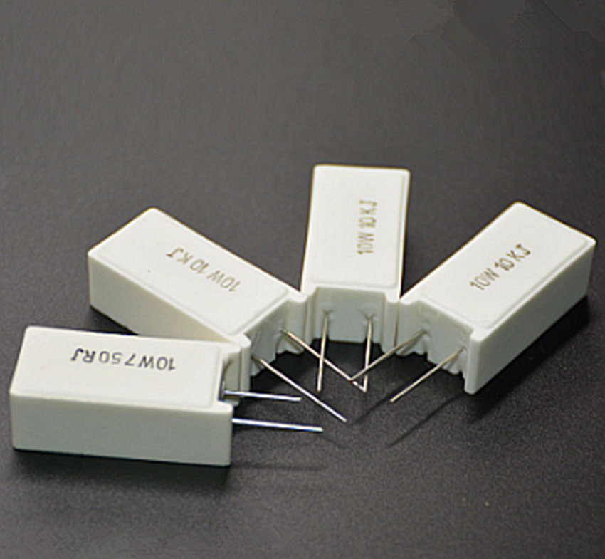 5Pcs SQM RX27-5 Vertical Cement Power Resistors 10W 10/12/15/20/22/30/39/47/51/100/150/200/300R Ohm Ceramic
