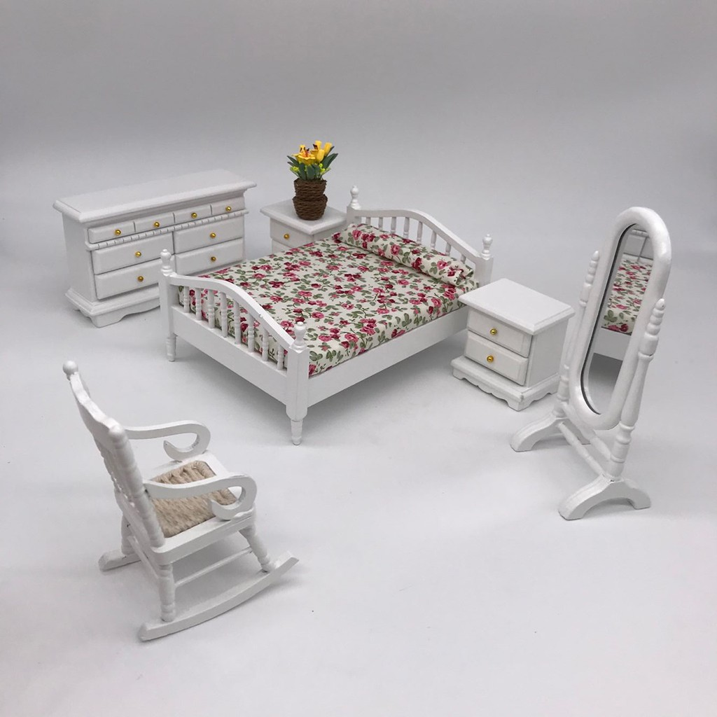 1:25 Doll/'s House Furniture Decorative Square Desk Table for Home Decor Gift