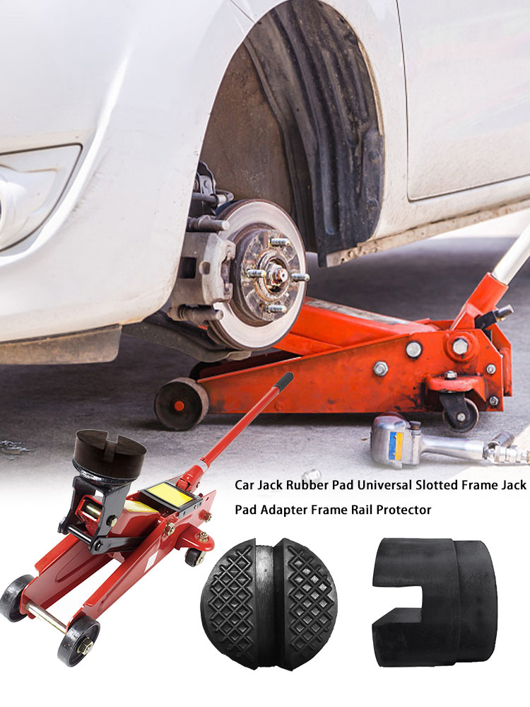 Car Jack Rubber Pad Universal Slotted Cushion Frame Jack Pad Adapter Frame Rail Protector Car Jack Rubber Slotted Pad
