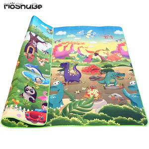 Double Side Baby Play Mat 0.5cm Eva Foam Developing Mat for Children's Rug Carpet Kids Toys Gym Game Crawling Gym Playmat Gift(China)