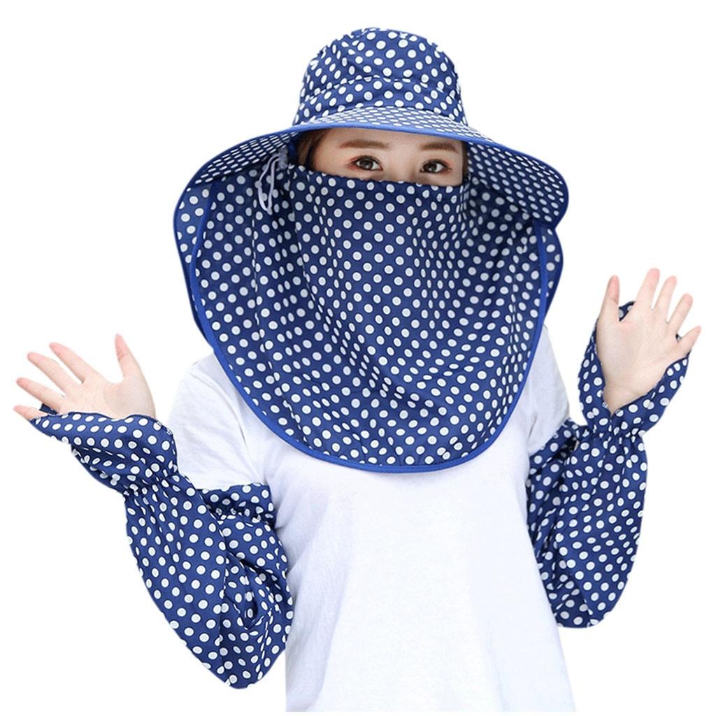 Fashion Women Square Head Scarf Windproof Fisherman Hat Wraps Scarves Printed Kerchief Neck Scarf Bucket Hat Women #B