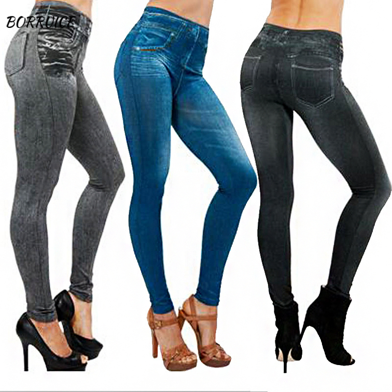 Spring Women Jeans Trousers Stretch Jeans Do Not Fade Without Deformation Slim Tight Blue Jeans Autumn Pants Washed Pencil Pants