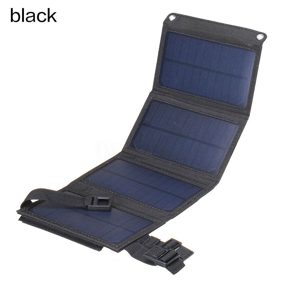Foldable 20W USB Solar Panel Portable Folding Waterproof Solar Panel Charger Mobile Power Battery Charger image