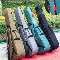 Сумка для гитары 36, 39, 41 дюймов, сумка для переноски, рюкзак, Оксфорд, акустическая, фолк, гитара, Сумка с двумя плечевыми ремнями
