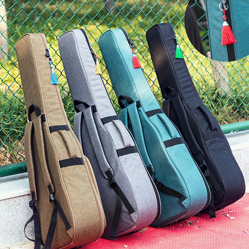 New 36 39 41 Inch Guitar Bag Carry Case Backpack Oxford Acoustic Folk Guitar Gig Bag Cover With Double Shoulder Straps