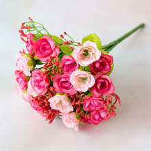 Artificial Flowers  Rose Faux Silk for Crafting Wedding Pink Party Decorations Valentines Day Fall