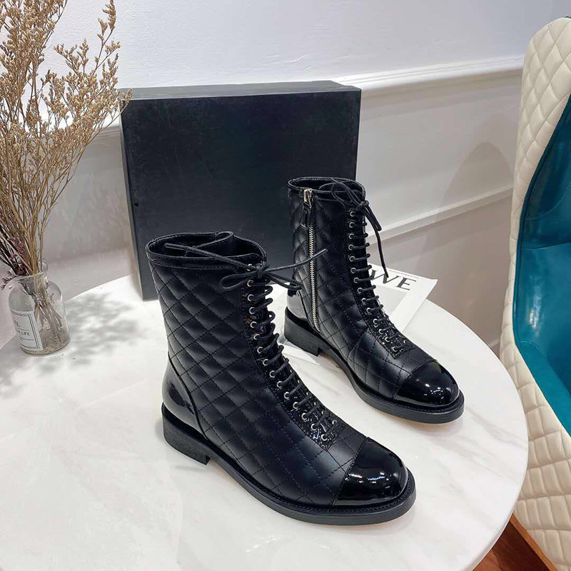 2020 Luxury New Fashion Black Real Leather Ankle Boots Women Ladies Lace Up Martin Boots Zip Women Boots Three Style Size 35 41|Ankle Boots| - AliExpress