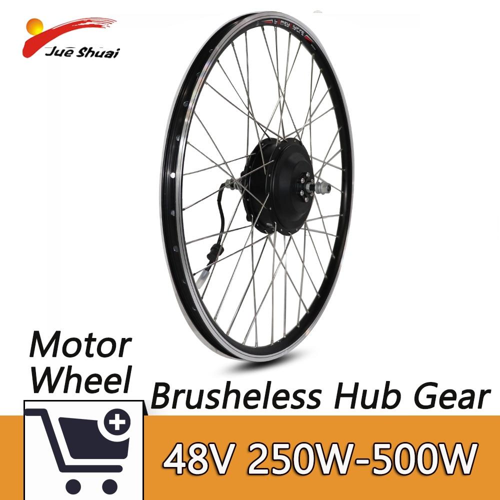 Elektrische Fahrrad Motor 48V 250-500 W Vorne Ebike Bürstenlosen Getriebe Hub Motor Für Elektrische Fahrrad Umwandlung kit26