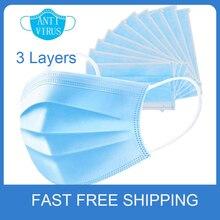 Gesicht Mund Masken Anti-Virus Einweg Gesicht Masken 3 Schicht Weiche Atmungsaktive 4 Elastische Ohrbügel Gesicht Maske Für Haar solon Verwendung
