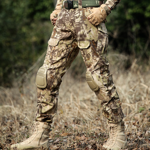 Image 3 - Desert Python Combat Broek Mannen Militaire Kleding Broek Kniebeschermers Tactische Camouflage Jacht Kleding Airsoft Multicam Broek