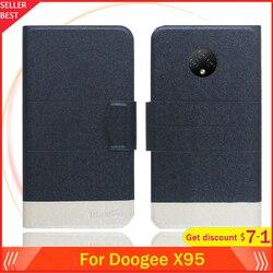 На Алиэкспресс купить чехол для смартфона 5 colors hot!! doogee x95 case 6.52дюйм. flip ultra-thin leather exclusive phone cover fashion folio book card slots