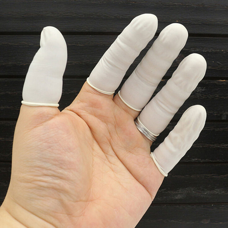 20pcs Disposable Anti Static Rubber Latex Finger Cots Eyebrow Extension Gloves Practical Off Eyelash Extension Tool Accessories