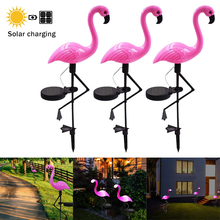 Solar Flamingo Lawn Lamp Outdoor Garden Decor Lights Pink Flamingo Yard Ornaments Waterproof