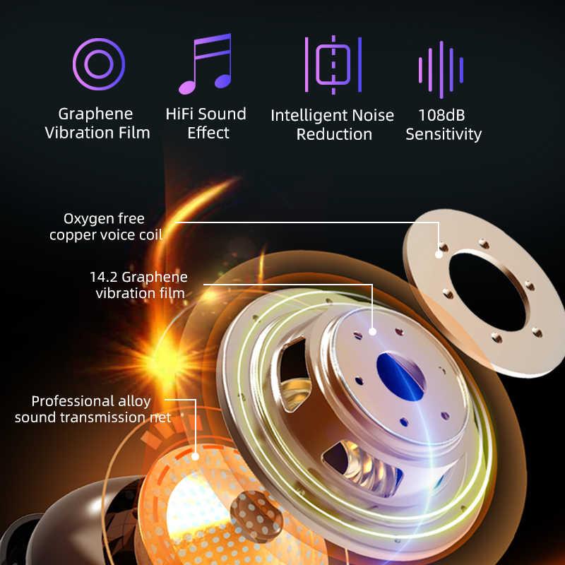 Asli M11-9 Headphone Nirkabel Tws Bluetooth5.0 Earphone HI FI IPX7 Tahan Air Speaker Mini Touch Kontrol Headset untuk Olahraga/Permainan