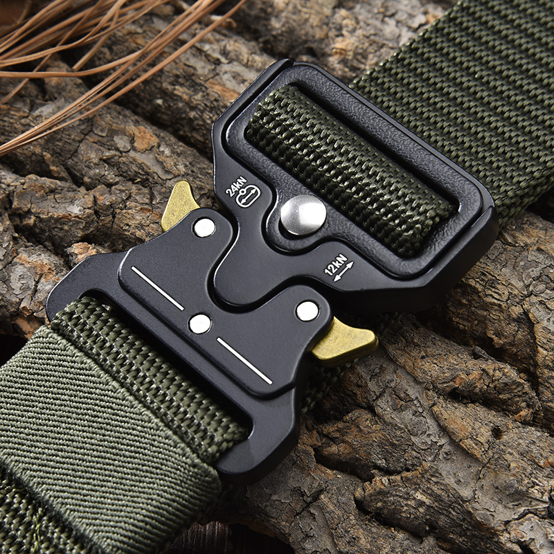 [LFMB]Tactical Belt New Nylon men's training belt metal multifunctional buckle sports Magnetic Waist Belt Outdoor Hunting