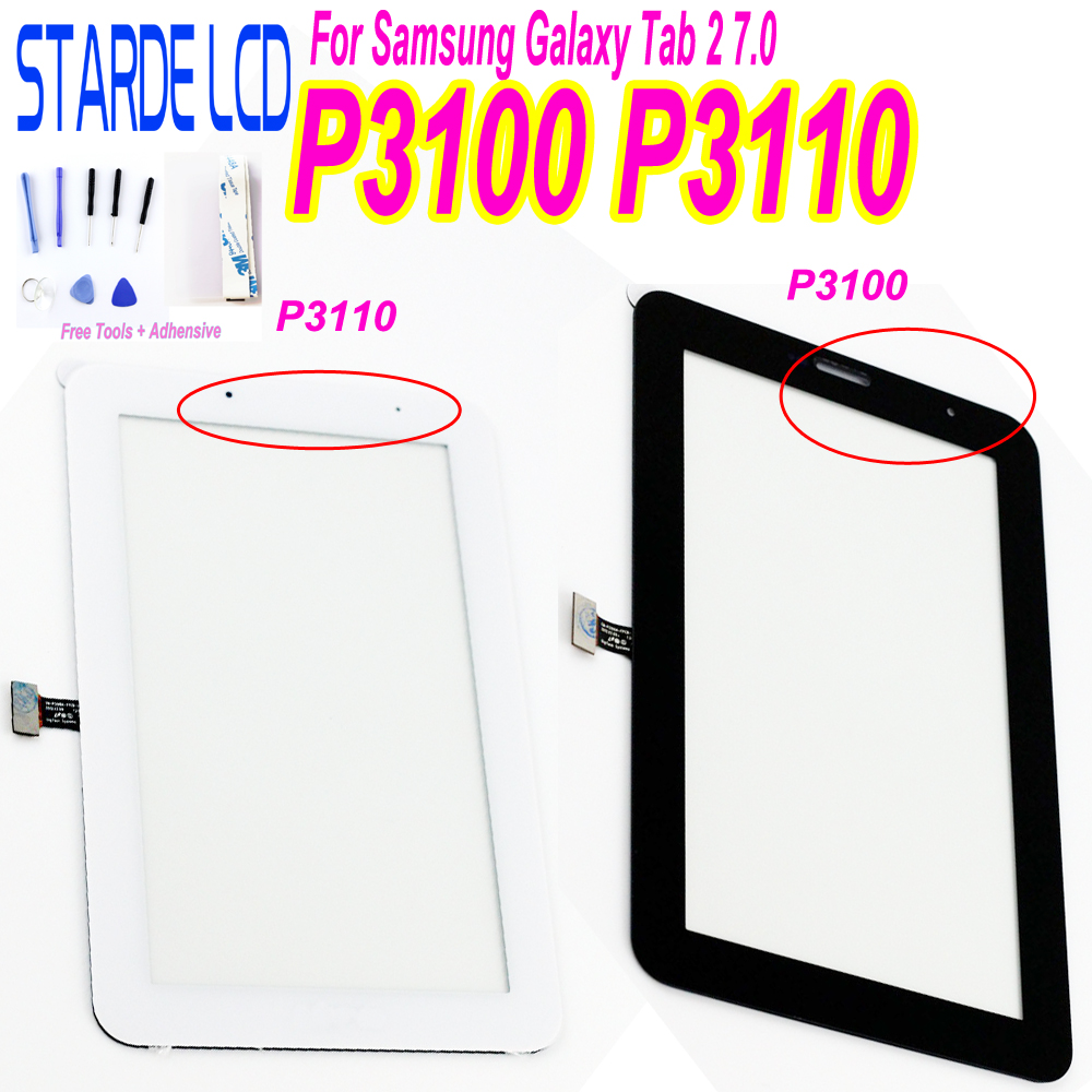 For Samsung Galaxy Tab 2 7.0 P3100 P3110 Touch Screen Digitizer Tab2 GT-P3100 GT-P3110 Tablet Touchscreen Glass Sensor Parts