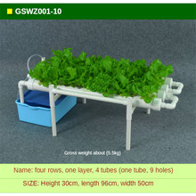 Hydroponic Vegetable Planting Machine Soilless Cultivation Equipment Household Balcony Indoor PVC Water Pipe Rack 4 Tube 36 Hole