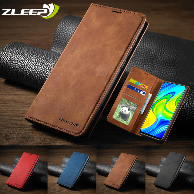 Leather Flip Case For Xiaomi Poco X3 M3 F3 11i 10T Lite Redmi Note 10 9 S 9A 9C 9T  8 7 Pro Max Wallet Cards Stand Phone Cover 1
