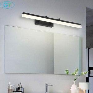 Image 5 - Schwarz L35/45/60/70/80/100cm FÜHRTE Wand licht Badezimmer Spiegel Lampe, 110V 220V wand Lampe leuchte für schrank, waschraum wandleuchter