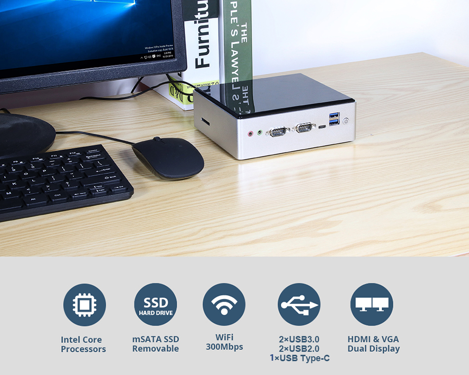 XCY Mini Pc for Industrial Computer with Intel Core i5 4200U Processor for Windows 10 and Linux OS 6