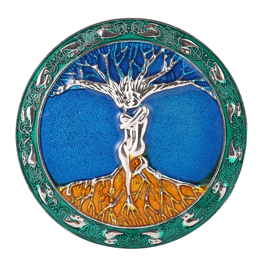 Fashion Belt Buckle Men's Tree Of Life Roots BranchesColorful Carved Buckle 8cm
