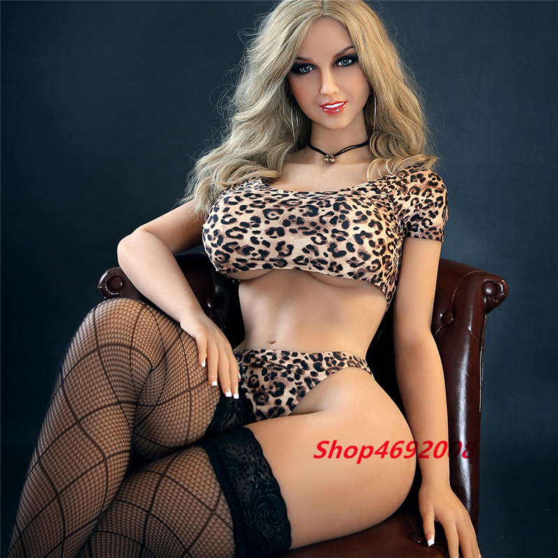 Sexy Leopard Green Eye Beauty Silicone Sex Doll 170cm Big Boobs Soft Solid Skin Meterial Life Size Female Sex Nipple Vagina