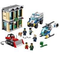 Bulldozer Break in Compatible Legoe City Police 60140 Building Blocks Bricks Model toys for Childrens kid gift 591Pcs