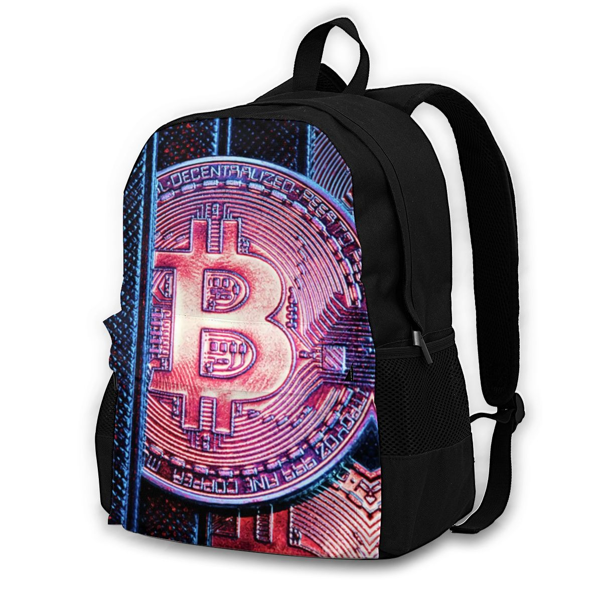 Bitcoin Backpacks Travel Youth Durable Backpack Elegant Polyester Bags 1