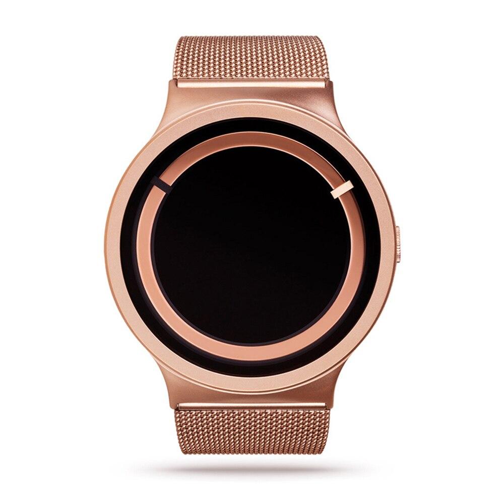 Rose Gold Stainless Steel Mesh Strap Japan Quartz Movement Waterproof Men Women Full Ladies Luxury Watch