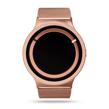 Rose Gold Stainless Steel Mesh Strap Japan Quartz Movement Waterproof Men Women Full Ladies Luxury Watch