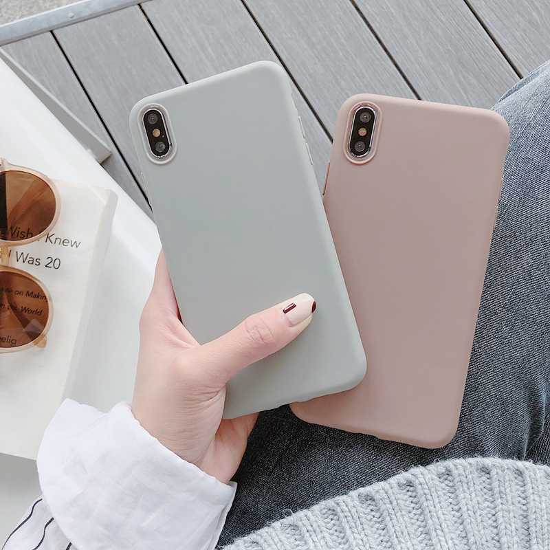 For Huawei P20 Lite P30 Pro P8 P9 P10 Lite 2017 Case Ultra thin Solid Color Cases For Huawei P Smart Y5 Y6 Y7 Prime Y9 2019 Case