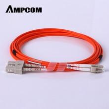 AMPCOM LC к SC волоконный патч-кабель многомодовый дуплексный-50/125um OM2-LC/UPC К SC/UPC