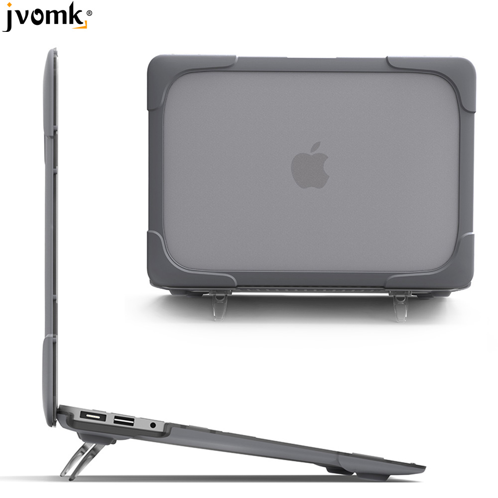 New Shockproof Hard Case Foldable Stand For Macbook Air Pro Retina 11 12 13 15 For Mac Book 13.3 Inch Touch Bar +Keyboard Cover