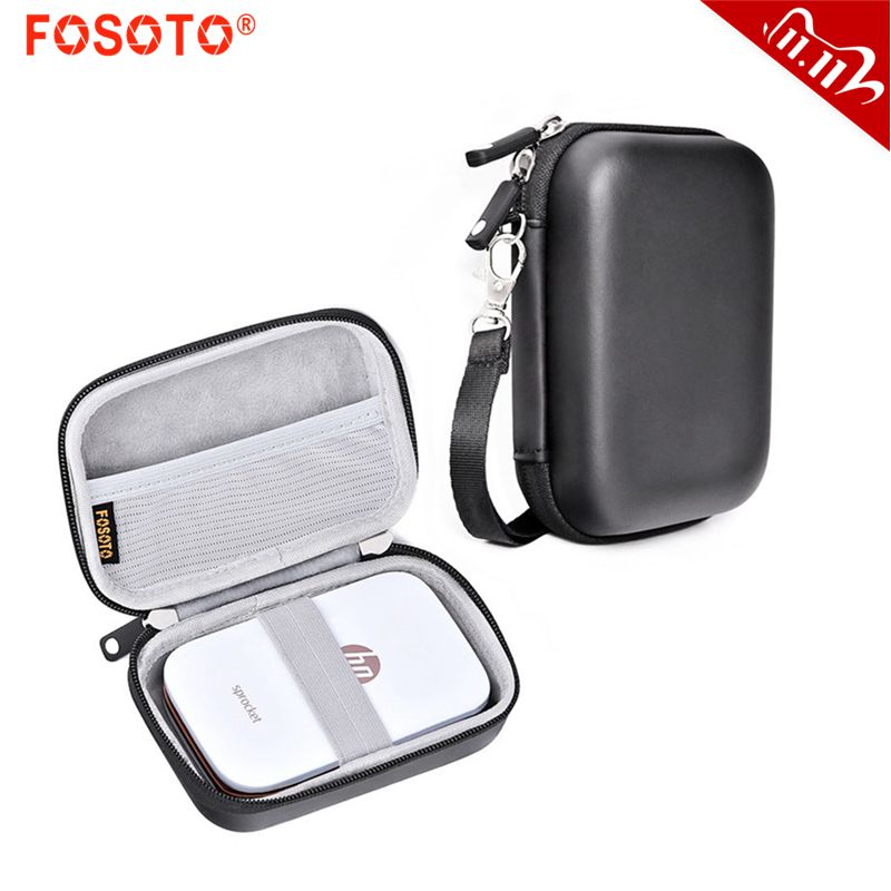 fosoto Portable Case Shell Cover Travel Carrying Storage Bag For Polaroid ZIP Mobile Printer HP Sprocket Portable Photo Printer
