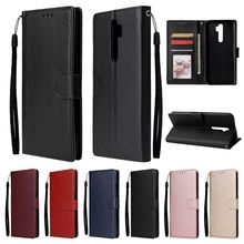 Leather Flip Case For OPPO A9 A5 2020 Realme 3 5 Pro XT X50 X2 Pro Reno Z 2Z 3 Pro Ace A91 A81 A31 2020 F15 F11 Pro Case Cover