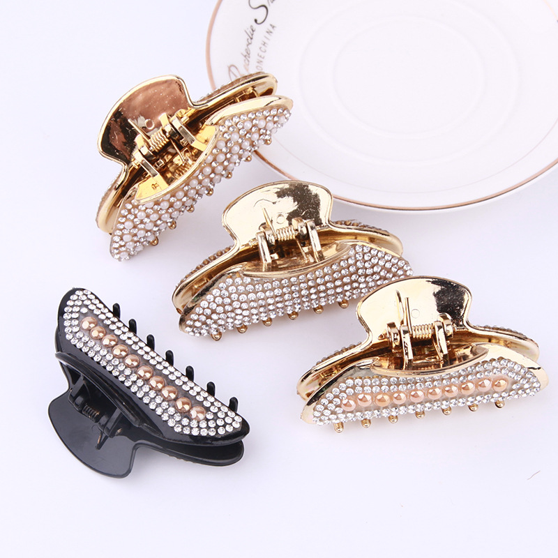Large Hair Claw Elegant Crystal Women Hairs Clip Hairpin Rhinestone Clamp Styling Tool Clamp Headwear Gift Hair Accessories New