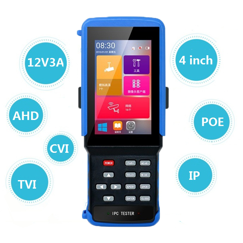 IPC 9310/9310S Wifi 4.3'' 5 In One Touchscreen CCTV Tester For IPC/Analog Camera,IPC 1080P, AHD,CVI,TVI,BNC Network Cable Tester