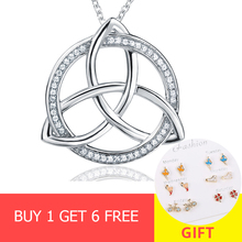 New arrival 100% 925 sterling silver round pendant chain necklace with Cubic Zirconia diy fashion jewelry making for women gifts анна кузнецова охота на пожирателей