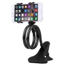 Nuevo soporte Universal Flexible brazo perezoso teléfono móvil cuello de cisne soporte Stents Flexible cama escritorio Mesa Clip soporte para teléfono
